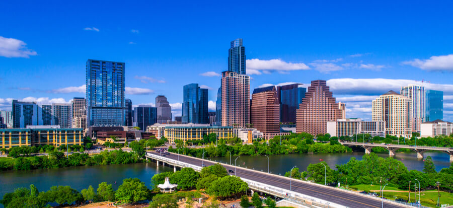 Austin Texas skyline during mid-day
