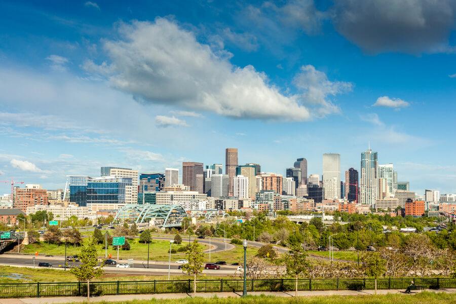 Denver city center, Capital of Colorado State, USA