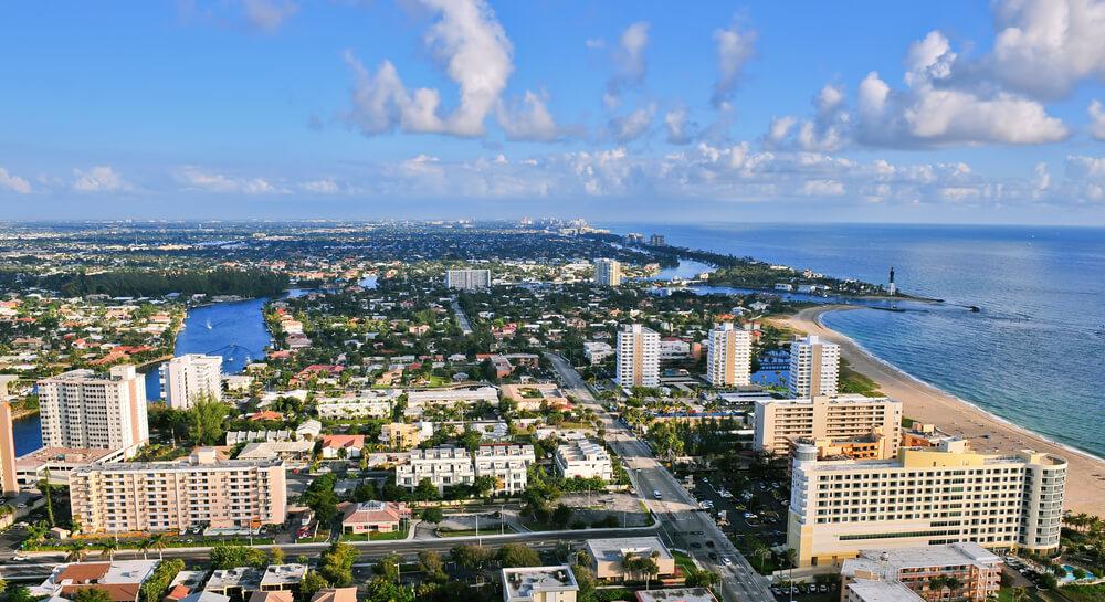 Landscape of Pompano Beach, Florida