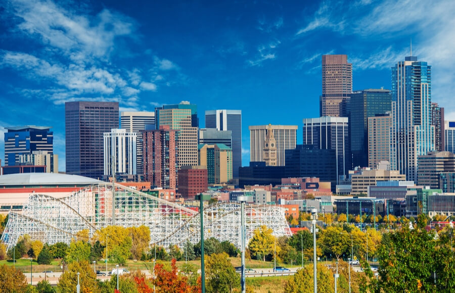 Sunny Day in Denver Colorado, United States.