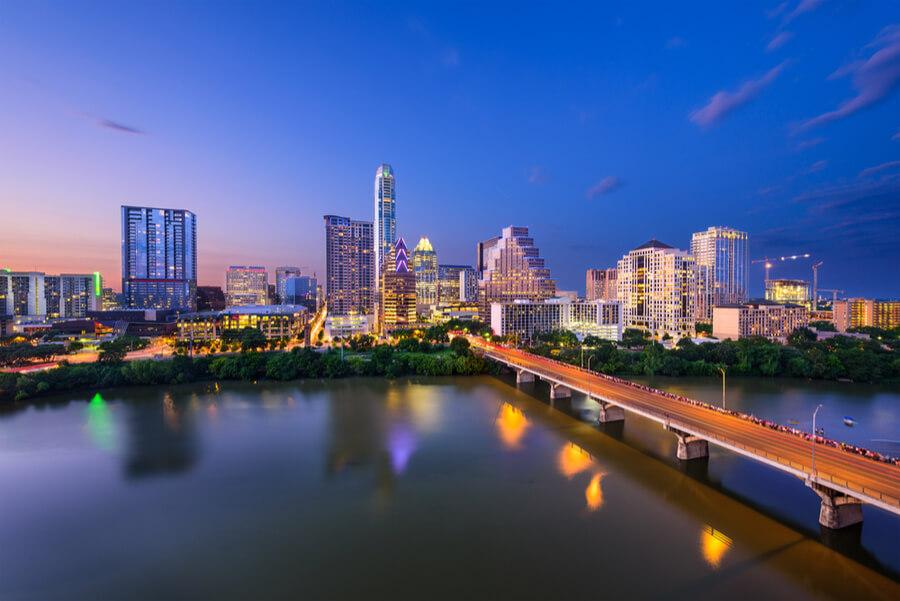 Austin, Texas, USA downtown