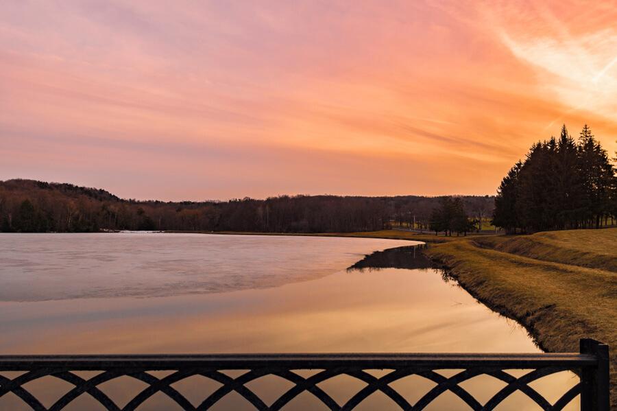 Lake in Utica, New York, USA