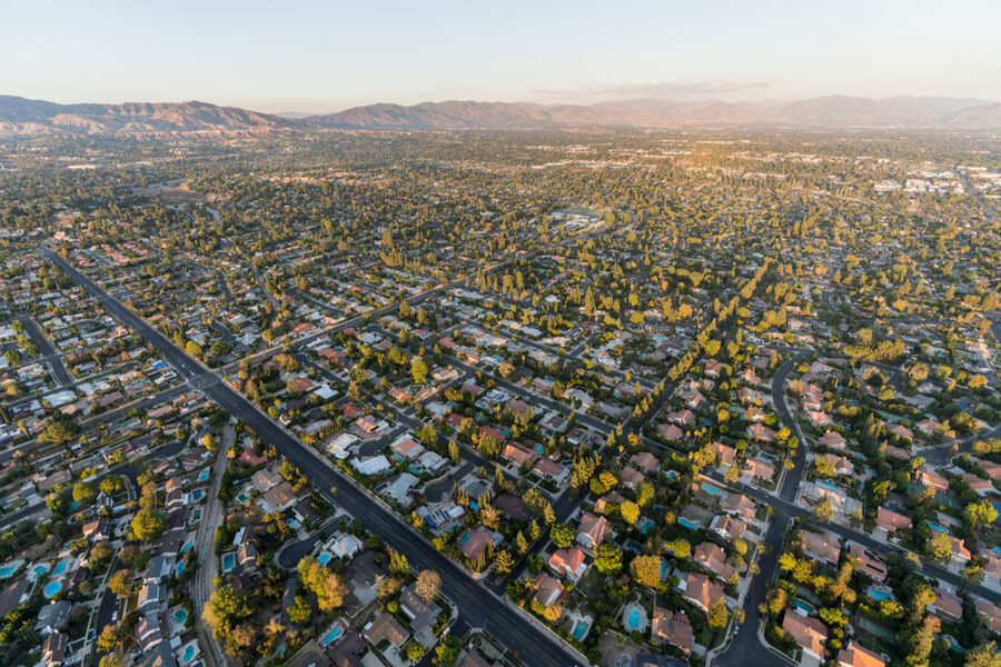 Northridge community in the San Fernando Valley