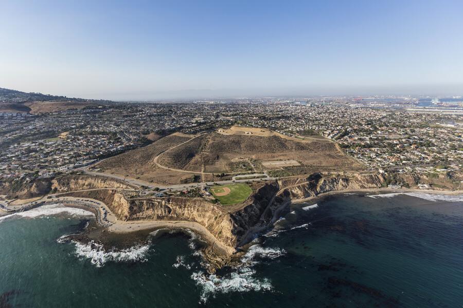 San Pedro coastline in Los Angeles, California