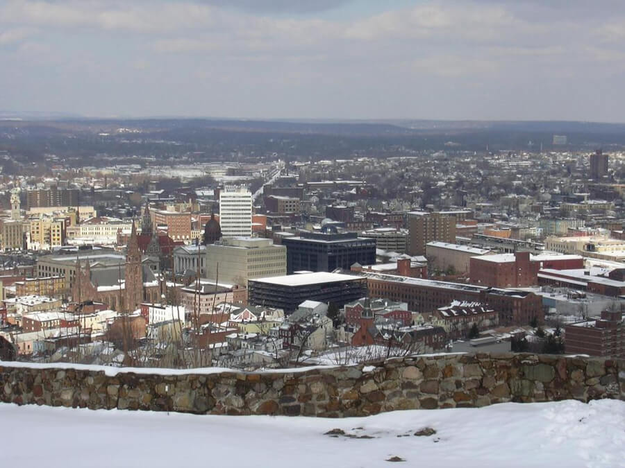 View of the city of Paterson, NJ from Garrett Mountain