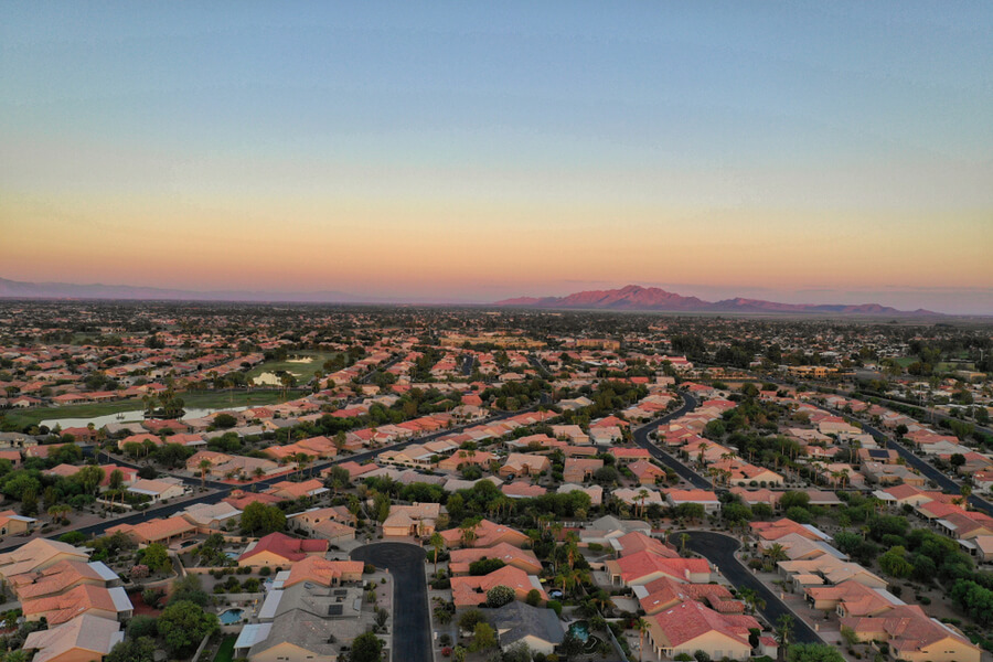 Arial photo of Chandler,AZ
