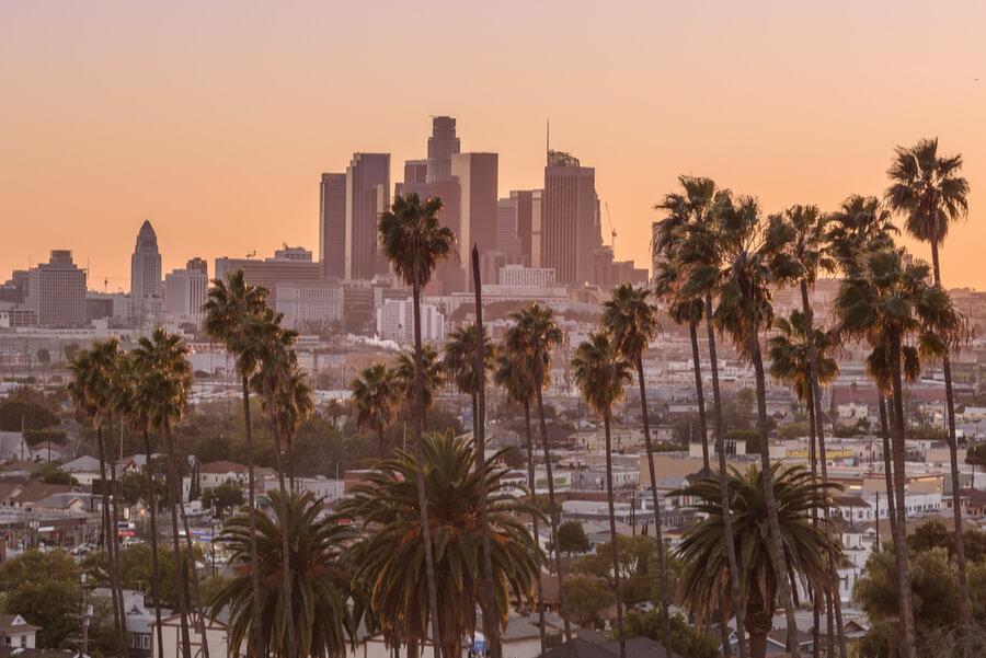 Beautiful sunset of Los Angeles