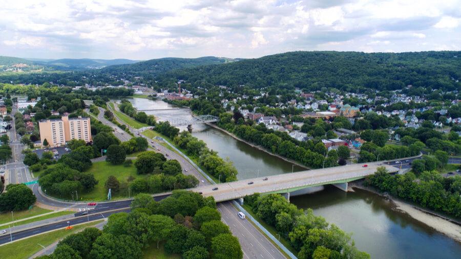 Binghamton, NY drone shots