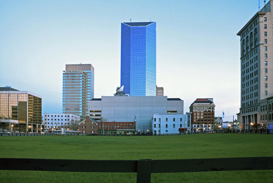 Blue morning in Lexington, Kentucky
