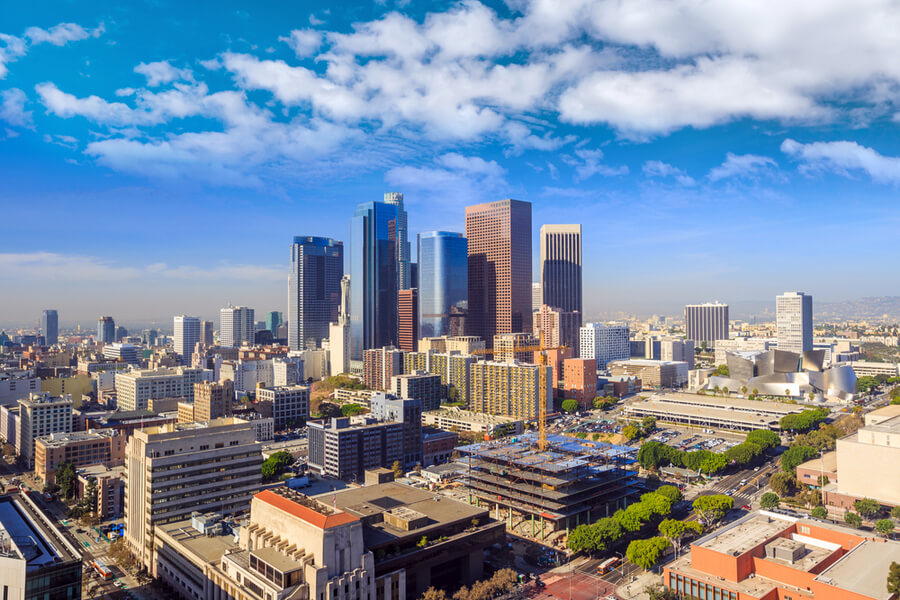 Downtown LA Los Angeles skyline