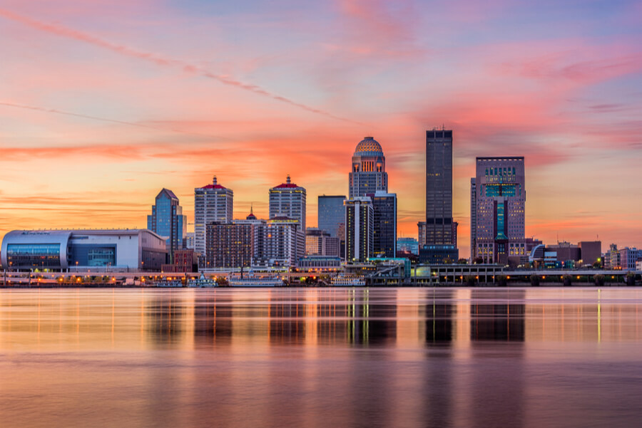 Louisville in Kentucky USA