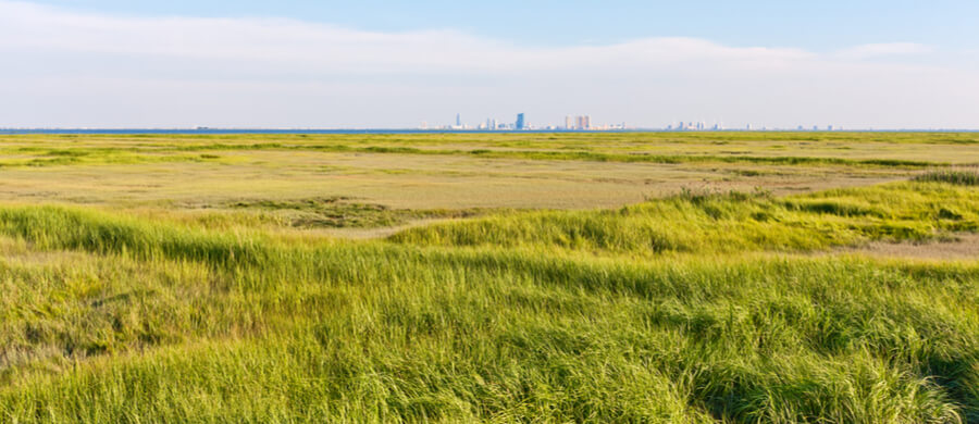 Panorama of the Atlantic City, New Jersey skyline