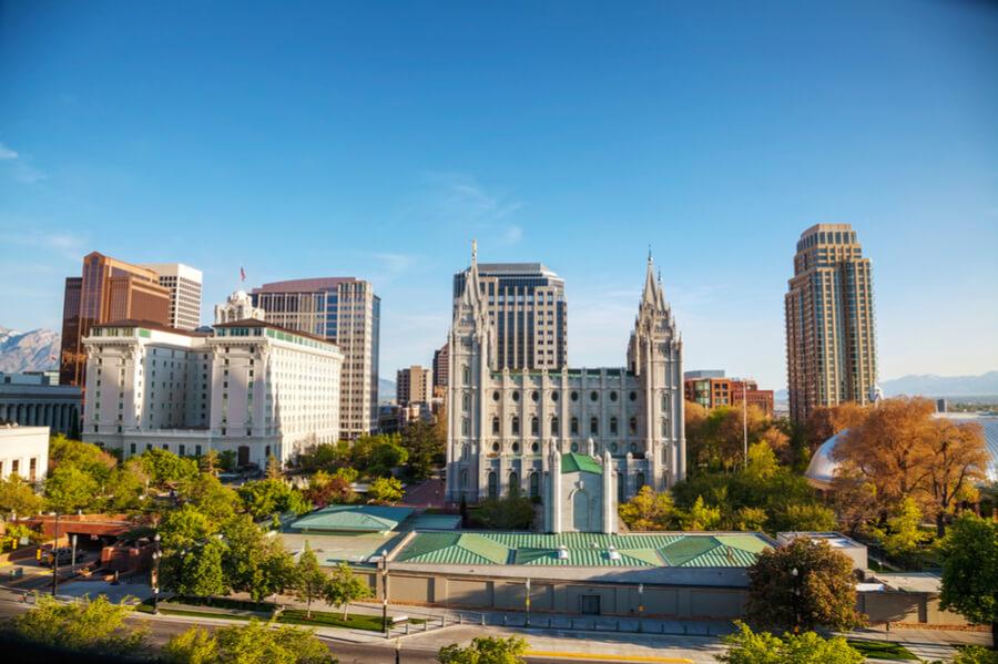 Salt Lake City panoramic overview