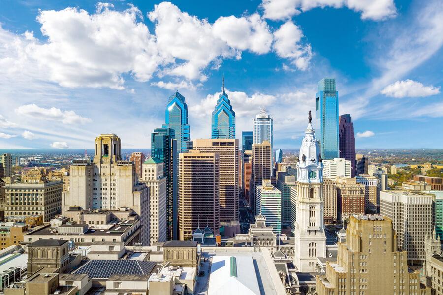 skyline Philadelphia USA