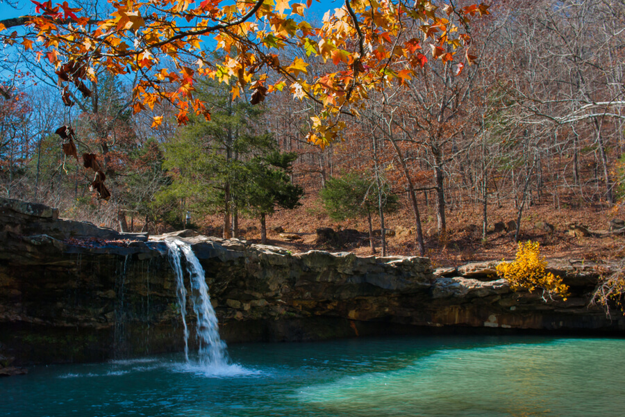 Falling Water Falls in Ozark National Forest, Arkansas