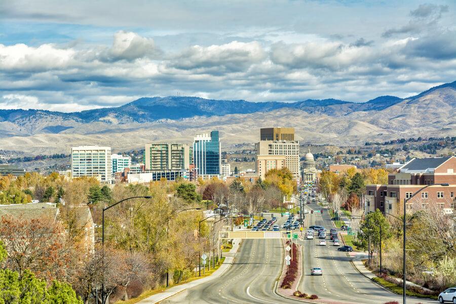 The skyline of Boise Idaho