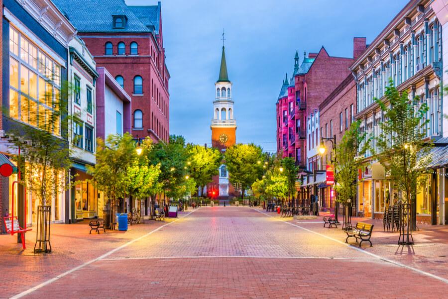 Burlington, Vermont, USA at Church Street