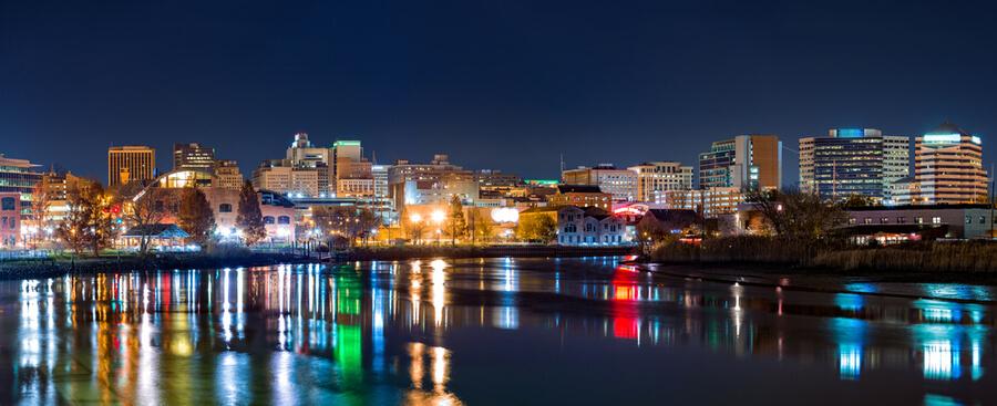Wilmington skyline panorama